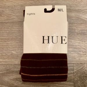 HUE Brown Striped Tights